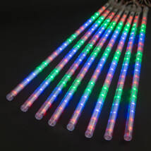 Színes LED meteor jégcsap fényfüzér, 320 cm